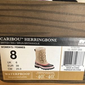 NEW Sorel Caribou Herringbone Boots